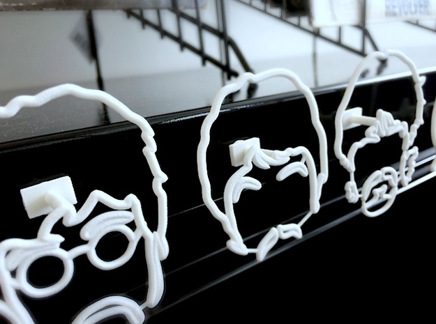 The Beatles: Wire Wall Art (Large) 3d printed