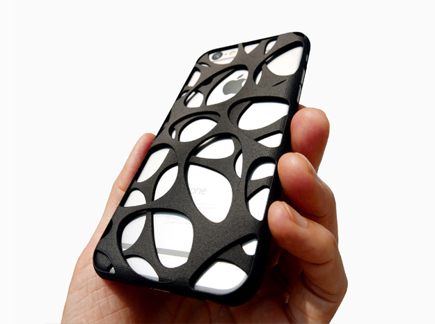 iPhone 6 / 6S Case_Voronoi in Black Strong & Flexible
