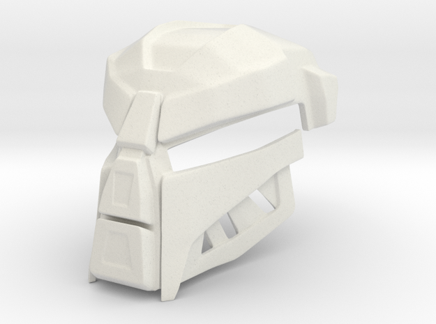 Teridax's Mask of Shadows (Movie Version) in White Natural Versatile Plastic