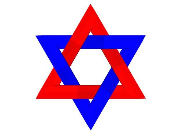 Star of David in Full Color Sandstone