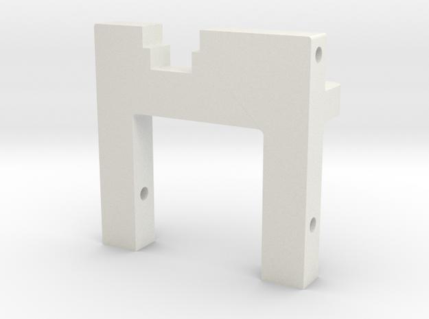 Lazer ZX Deck Mount in White Natural Versatile Plastic