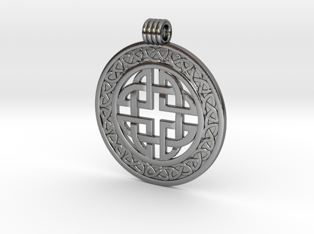 Celticknot_pendant6 in Polished Silver