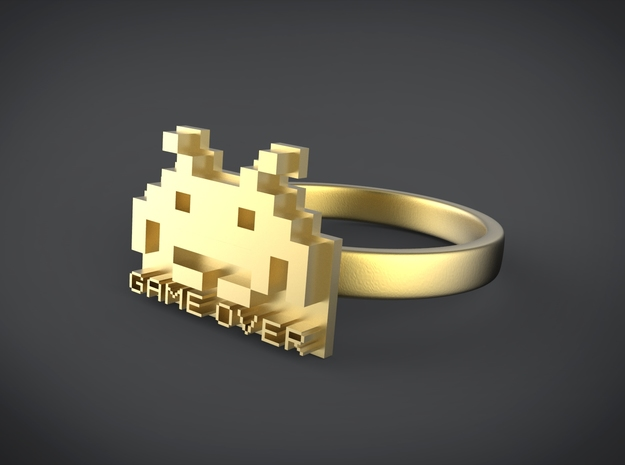 Game Over  in 14k Gold Plated Brass: 6 / 51.5