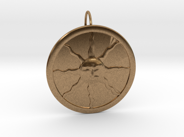Sunlight Pendant for Large Chains in Natural Brass (Interlocking Parts)