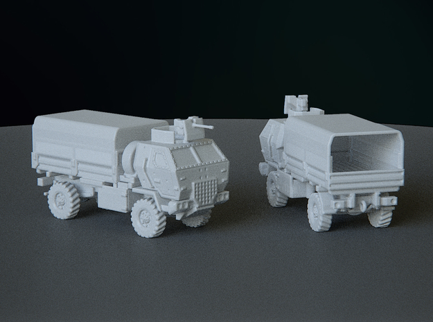 M1078 Armored Cab Covered esc: 1:144 in Smooth Fine Detail Plastic