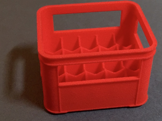 Crate for beer bottles  in Red Processed Versatile Plastic