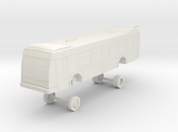 HO Scale Bus Gillig BRT 35' Westcat 155-160 in White Natural Versatile Plastic