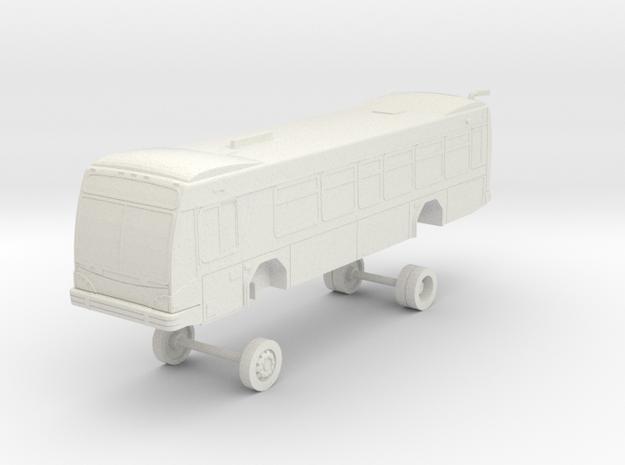 HO Scale Bus Gillig BRT 35' Westcat 155-160 in White Natural Versatile Plastic