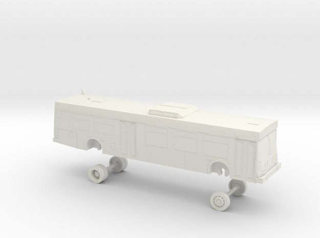 HO Scale Bus New Flyer D40LF CommunityTransit 8100 in White Natural Versatile Plastic