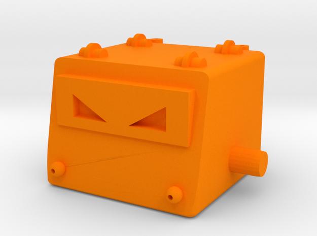 Omegatron Head in Orange Processed Versatile Plastic