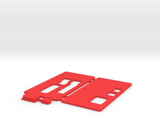 MiSTer - Case Universal v5.x - Front/Back/Plugs in Red Processed Versatile Plastic