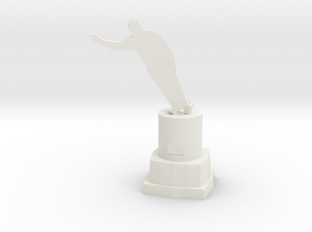 Toppled Dictator Monument in White Natural Versatile Plastic