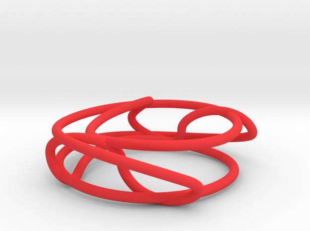 Connected Sum of Trefoils in Red Processed Versatile Plastic