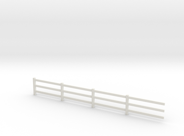 4mm scale fence in White Natural Versatile Plastic