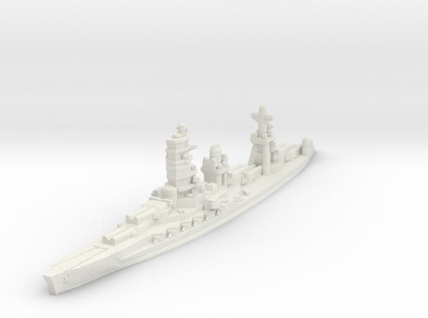Ise battleship 1/1800 in White Natural Versatile Plastic