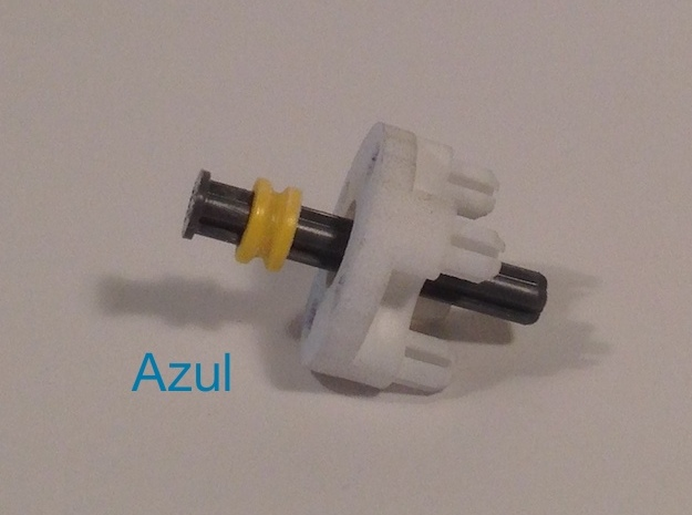 NXT Motor Shaft to Tetrix Coupler 3d printed Use this lego piece to increase durability