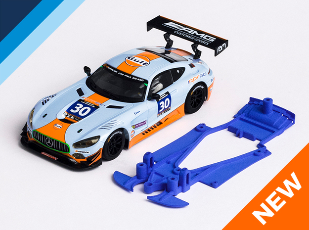 1/32 Scalextric AMG Mercedes GT3 Chassis NSR pod in Blue Processed Versatile Plastic