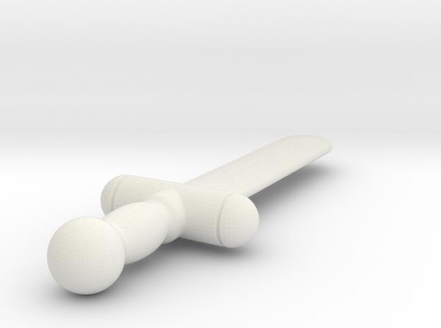 Test Sword (#3) in White Natural Versatile Plastic