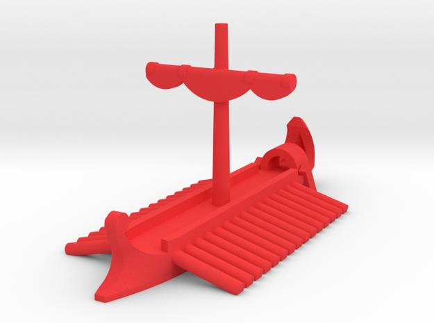 1/1200 Roman Actuaria Game Pieces in Red Processed Versatile Plastic: Extra Small