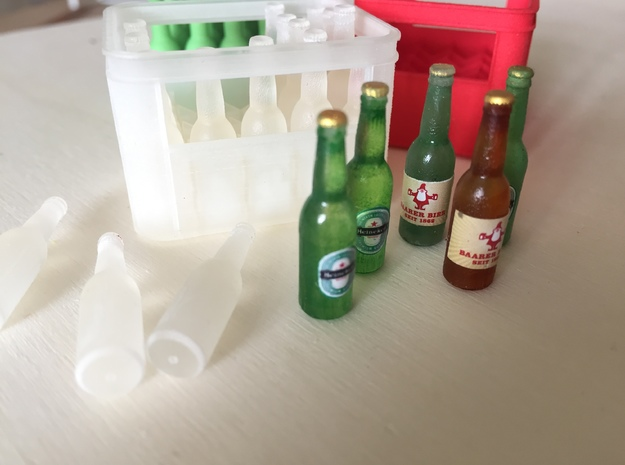Beer Bottles (20 pieces), 1:12 in Smooth Fine Detail Plastic