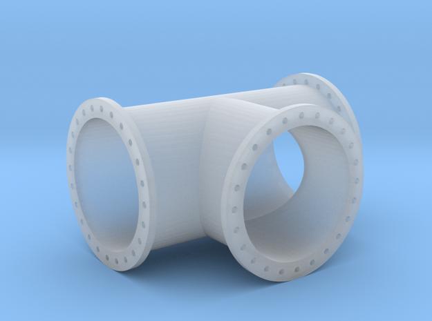 T-Stück Rohrleitung 1000mm x 2000mm - TT 1:120 in Smooth Fine Detail Plastic