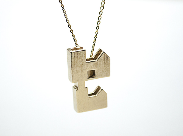 """""""Forever Home"""" Necklace in Natural Brass"""