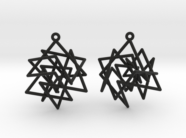 Knight's Tour Cube Earrings