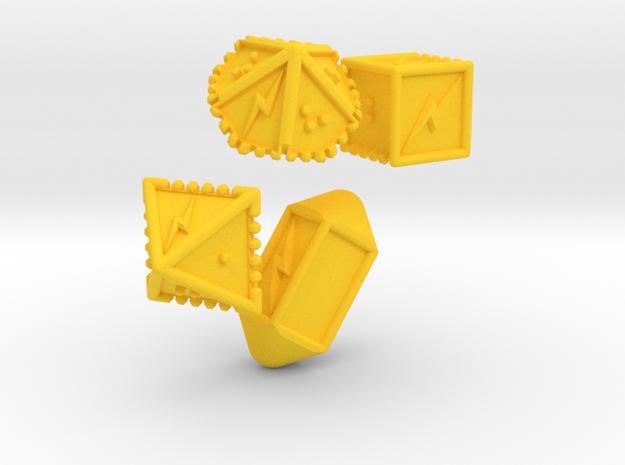 Braille Lightning Gaming Dice in Yellow Processed Versatile Plastic