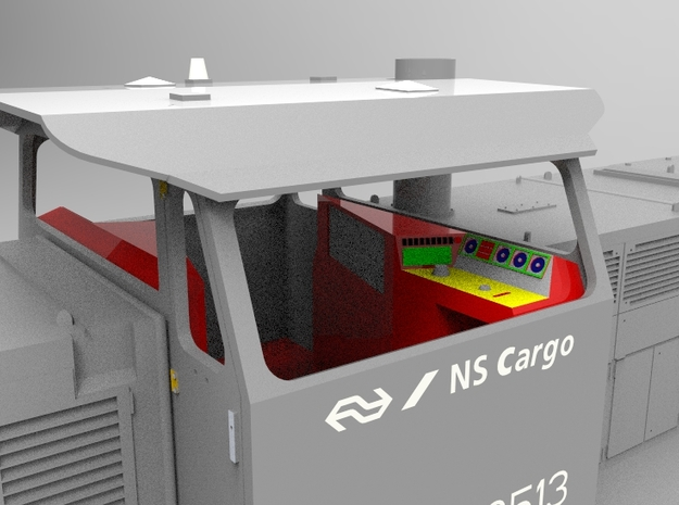 NS 6400 cab inrichting. Scale 1 (1:32) in Frosted Ultra Detail