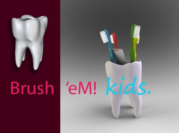 Brush'eM! - Kids 3d printed
