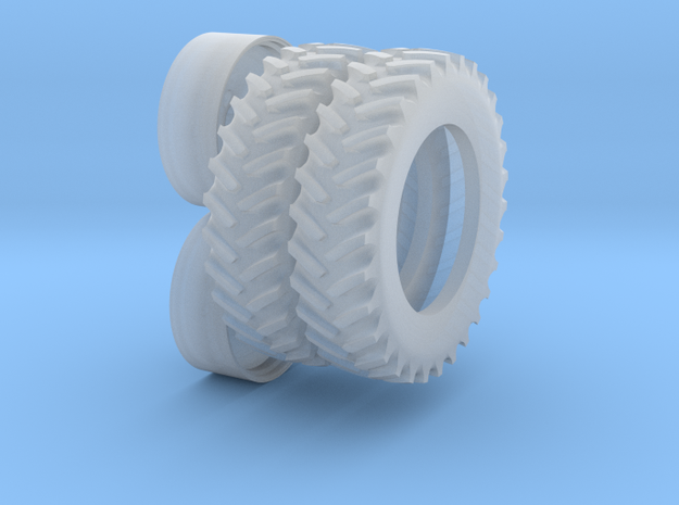 "1/64 Scale 42"" Silver Rear Cast Wheels & Tires"