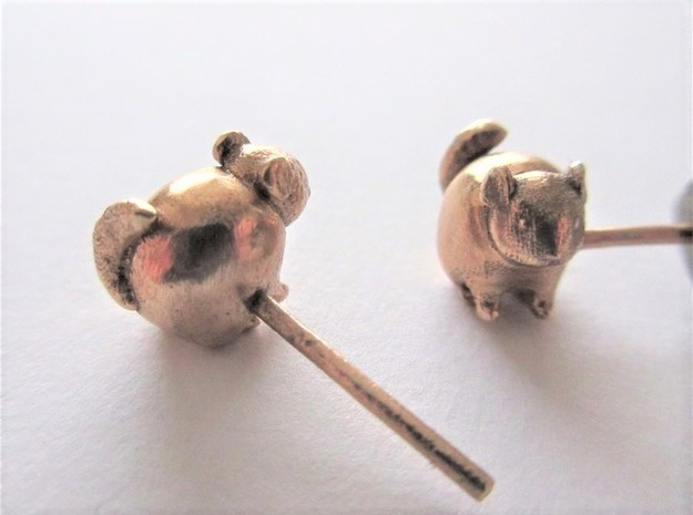 Chinchilla Earrings in Natural Bronze
