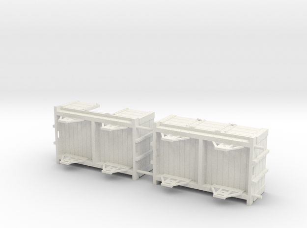 Ravenglass and Eskdale 0-12 Narrow Gauge wagon/coa in White Natural Versatile Plastic