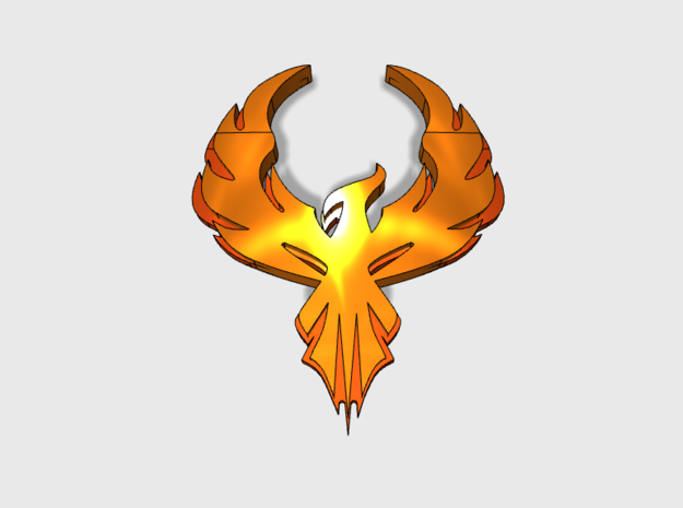 60x Phoenix Crest: Shoulder Insignia pack in Smooth Fine Detail Plastic