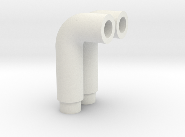 1:16 Panther Exhaust Pipe in White Natural Versatile Plastic