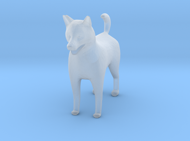 S scale shelti dog  in Smooth Fine Detail Plastic