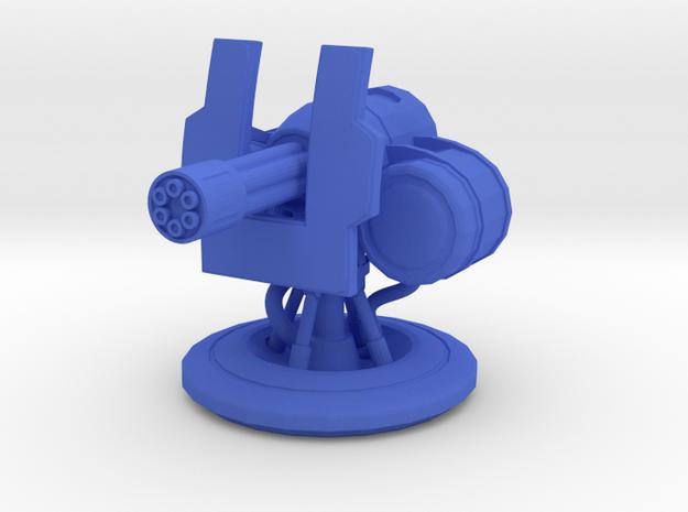 Minigun Turret for Gasland in Blue Processed Versatile Plastic