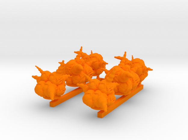 x6 blast markers in Orange Processed Versatile Plastic