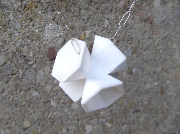 Hexagon Flower Pendant 3d printed