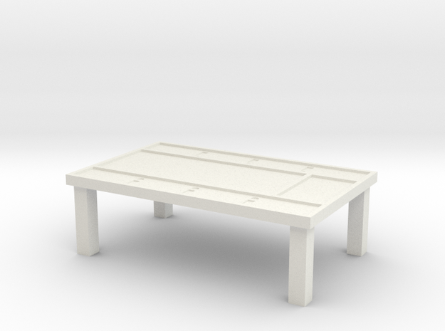 DnD Table in White Natural Versatile Plastic