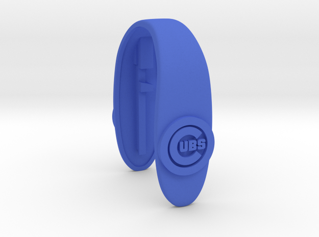 CUBS key fob  in Blue Processed Versatile Plastic