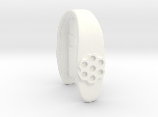 COLT 2 key fob in White Processed Versatile Plastic