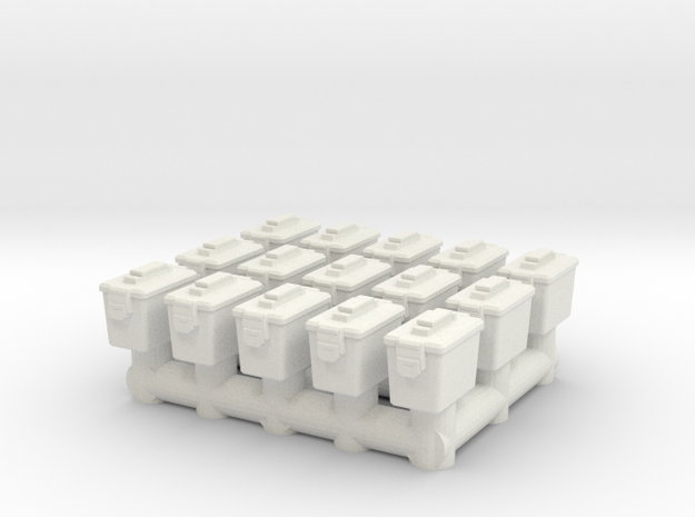 1/87 Scale Ammo Can set in White Natural Versatile Plastic