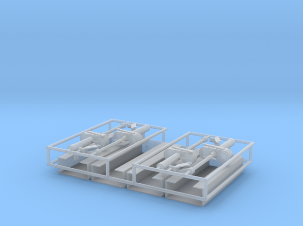 MG15 Ammo Racks and Gun 1 zu 24 in Smooth Fine Detail Plastic
