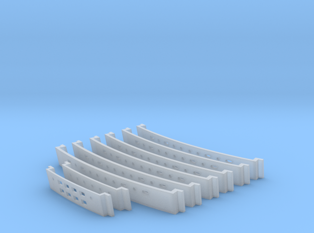 1/537 Window Inserts in Smooth Fine Detail Plastic