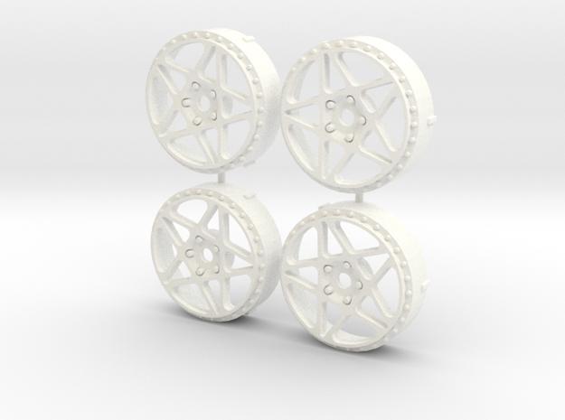 MST / Fifteen52 Penta Insert (x4) in White Processed Versatile Plastic