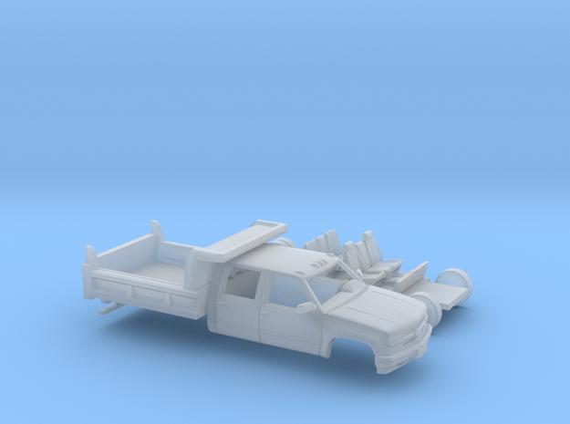 1/160 1990-98 Chevrolet Silverado CrewCab Dump Kit in Smooth Fine Detail Plastic