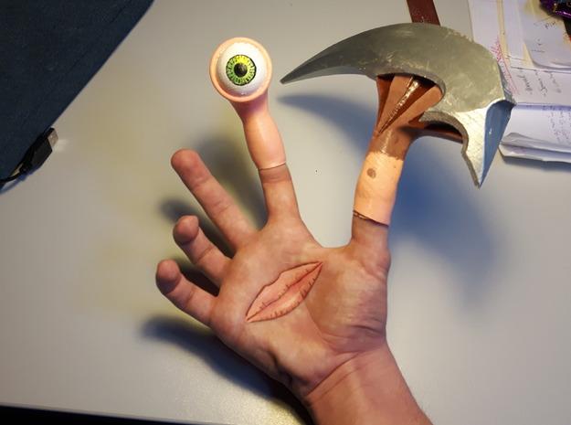 Parasyte Cosplay: Migi Eye (Anime) in White Natural Versatile Plastic