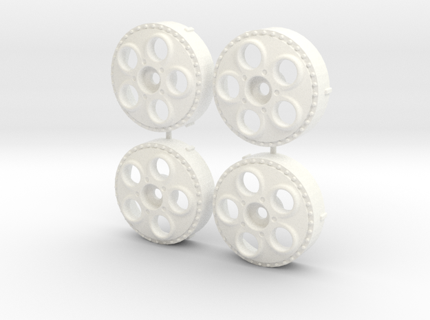 MST / Autostrada Monza Insert (x4) in White Processed Versatile Plastic