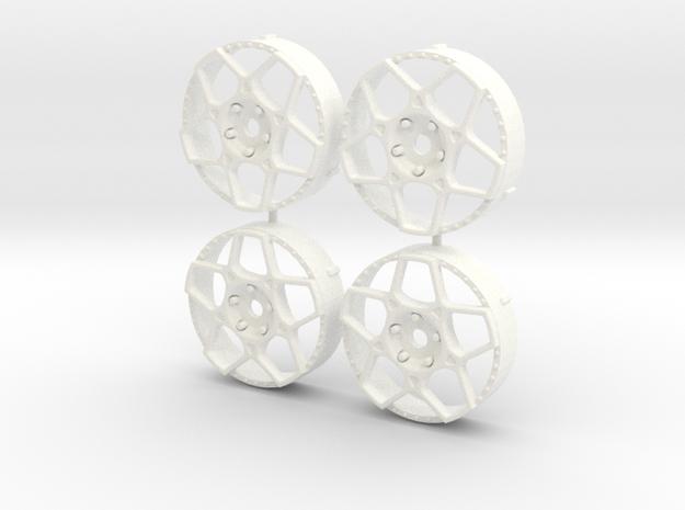 MST / Oversliders Futura Insert (x4) in White Processed Versatile Plastic